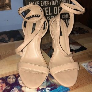 Forever21 Nude Strap Heels 👠